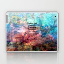 Challenging Fear Rumi Uplifting Quote With Beautiful Underwater Painting Laptop & iPad Skin
