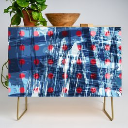 dots on blue ice Credenza