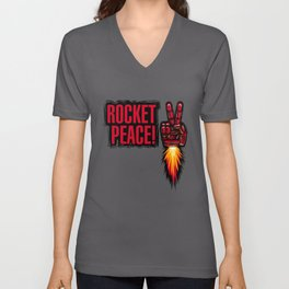 ROCKET PEACE! Unisex V-Neck
