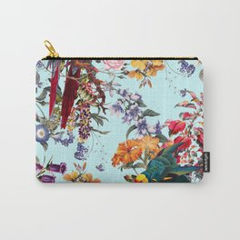Floral and Birds XXXIV Carry-All Pouch