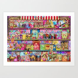 The Sweet Shoppe Art Print