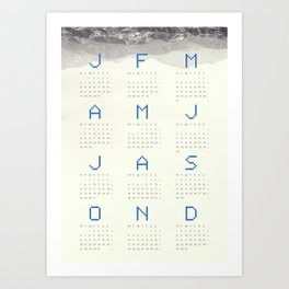 Mountain calendar 2014 S Art Print