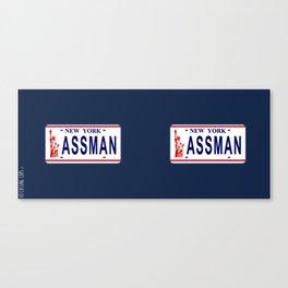 Assman License Plate Canvas Print