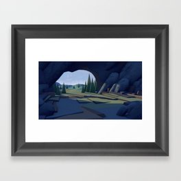 C ∆ V E Framed Art Print