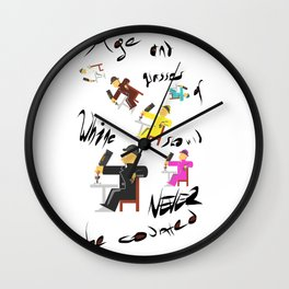Age and wine Wall Clock