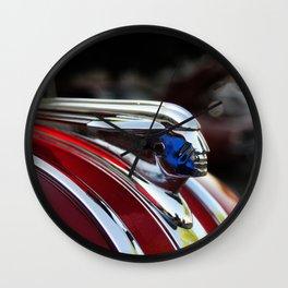 Retro Pontiac hood ornament from the Goodguy's Auto show Wall Clock