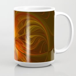 Burning, Abstract Fractal Art With Warmth Coffee Mug