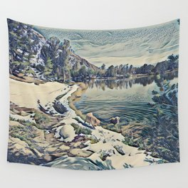 Mountain Lake Trail, California Wall Tapestry