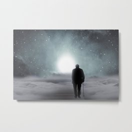 Old Man Walking Towards Heaven Metal Print