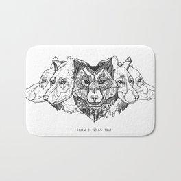 Learn To Speak Wolf Bath Mat