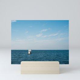 Ship and Sea Mini Art Print