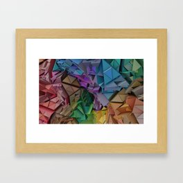 Colorful Low Poly 3D Abstract  Framed Art Print