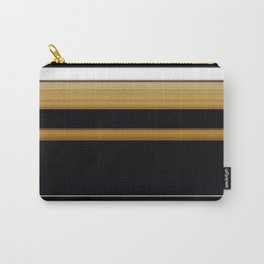 Rich Gold Black Striped Pattern Carry-All Pouch