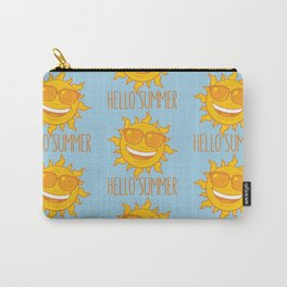 Hello Summer Sun With Sunglasses Carry-All Pouch