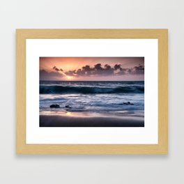 Sunset at El Arenal Framed Art Print