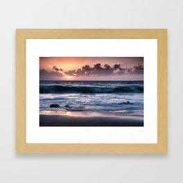 Sunset at El Arenal Framed Art Print