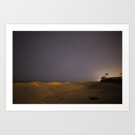 Light over the dunes Art Print