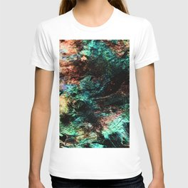 marble inks colorful texture c T-shirt