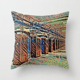 Sweden Luleå Facebook Data Center Artistic Illustration Wire Style Throw Pillow