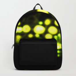 Neon Glowing Molecules Backpack