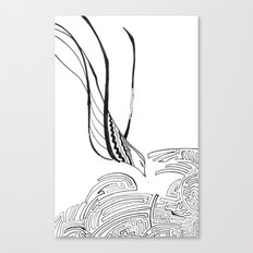 Squiggly Cloud and Squiggly Bird Canvas Print