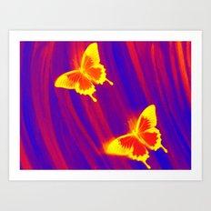 Dark Flutter Art Print