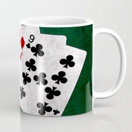 Poker Hand Straight King Queen Jack Ten Nine Coffee Mug