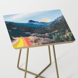 1960's Style Mountain Collage Side Table