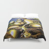 oil Duvet Covers featuring Oil by John Turck