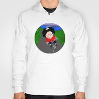 cycling Hoodies featuring Cycling pig by Afro Pig