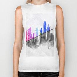 Color New York Skyline 06 Biker Tank