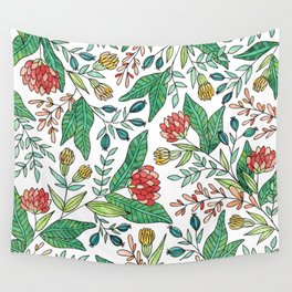Wildflower Pattern - Full Color Wall Tapestry