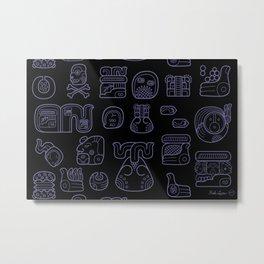 Picto-glyphs Story--Negro Metal Print