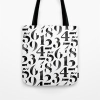 numbers Tote Bags featuring Numbers by Sibling & Co.