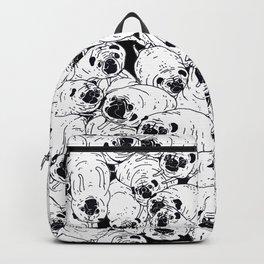 Black & White pugs Backpack