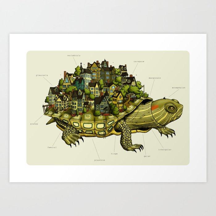 Turtle Town Art Print