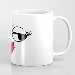 Sexy and attractive female emoticon Coffee Mug