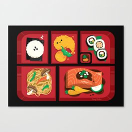 Sushi Bento Box Canvas Print