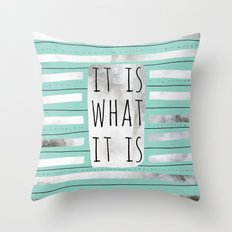 It Is What It Is (Mint) Throw Pillow
