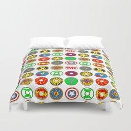 Superhero Donuts Duvet Cover