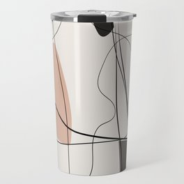 Minimal geometric abstraction, Nordic wall art, Pastel earth colors, Travel Mug
