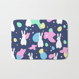 Easter bunnies and Eggs Pattern Bath Mat