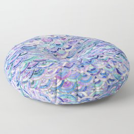 Marble Mosaic in Amethyst and Lapis Lazuli Floor Pillow