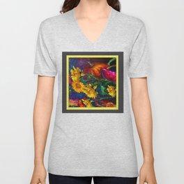 Sunflowers & fruit Fall Still Life Painting Unisex V-Neck