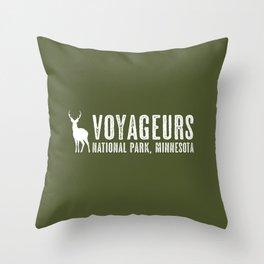 Deer: Voyageurs, Minnesota Throw Pillow