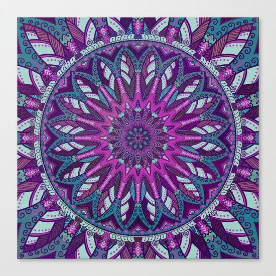 Iris Mandala 2 Canvas Print