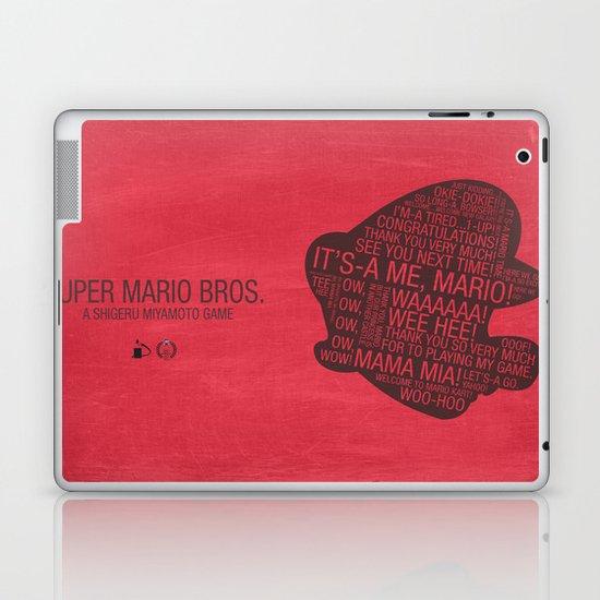 Super Mario Typography Laptop & iPad Skin