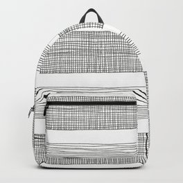 simple crosshatch stripes Backpack