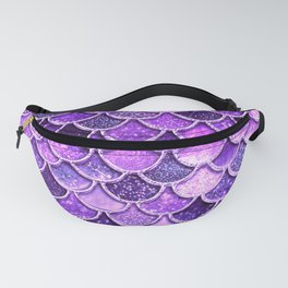 Pantone Ultra Violet Glitter Ombre Mermaid Scales Pattern Fanny Pack