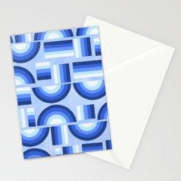 Geometric rainbow - blue Stationery Cards